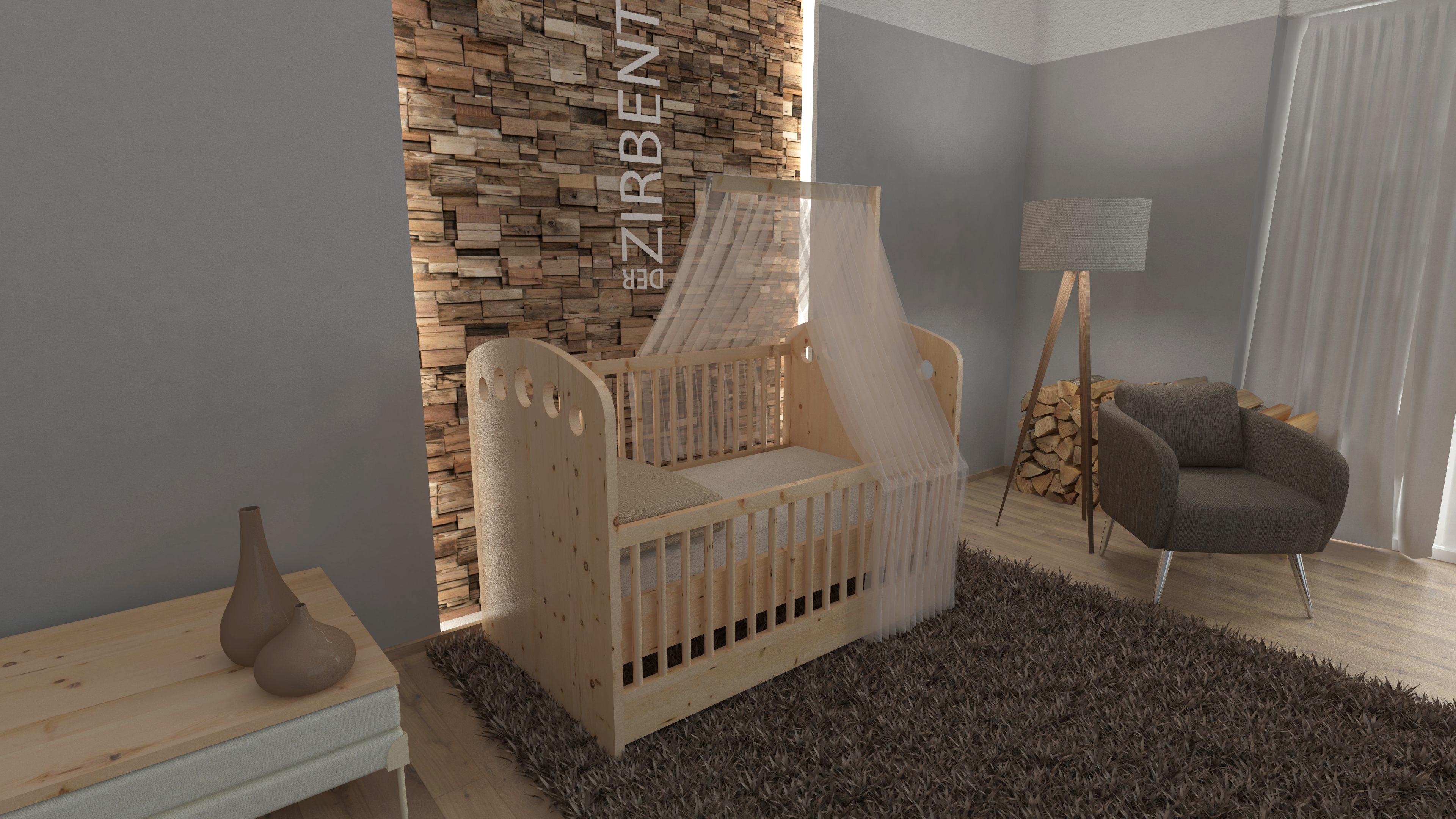 Gitterbett aus Zirbenholz